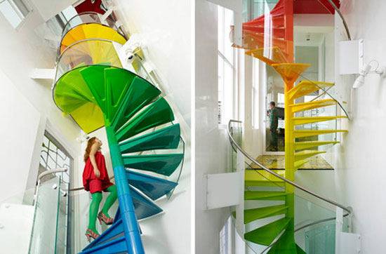 20 Mind-Blowing Multi-Colored Stairs Designs