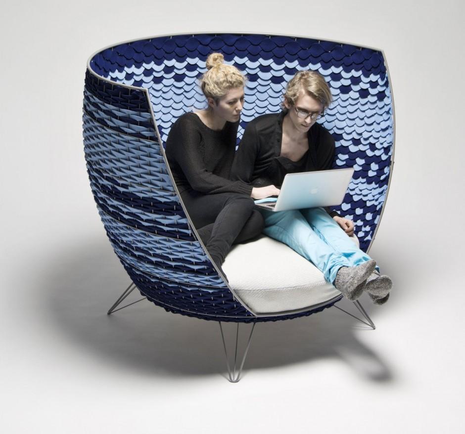 Unique Big Basket Chair Design by Ola Gillgren