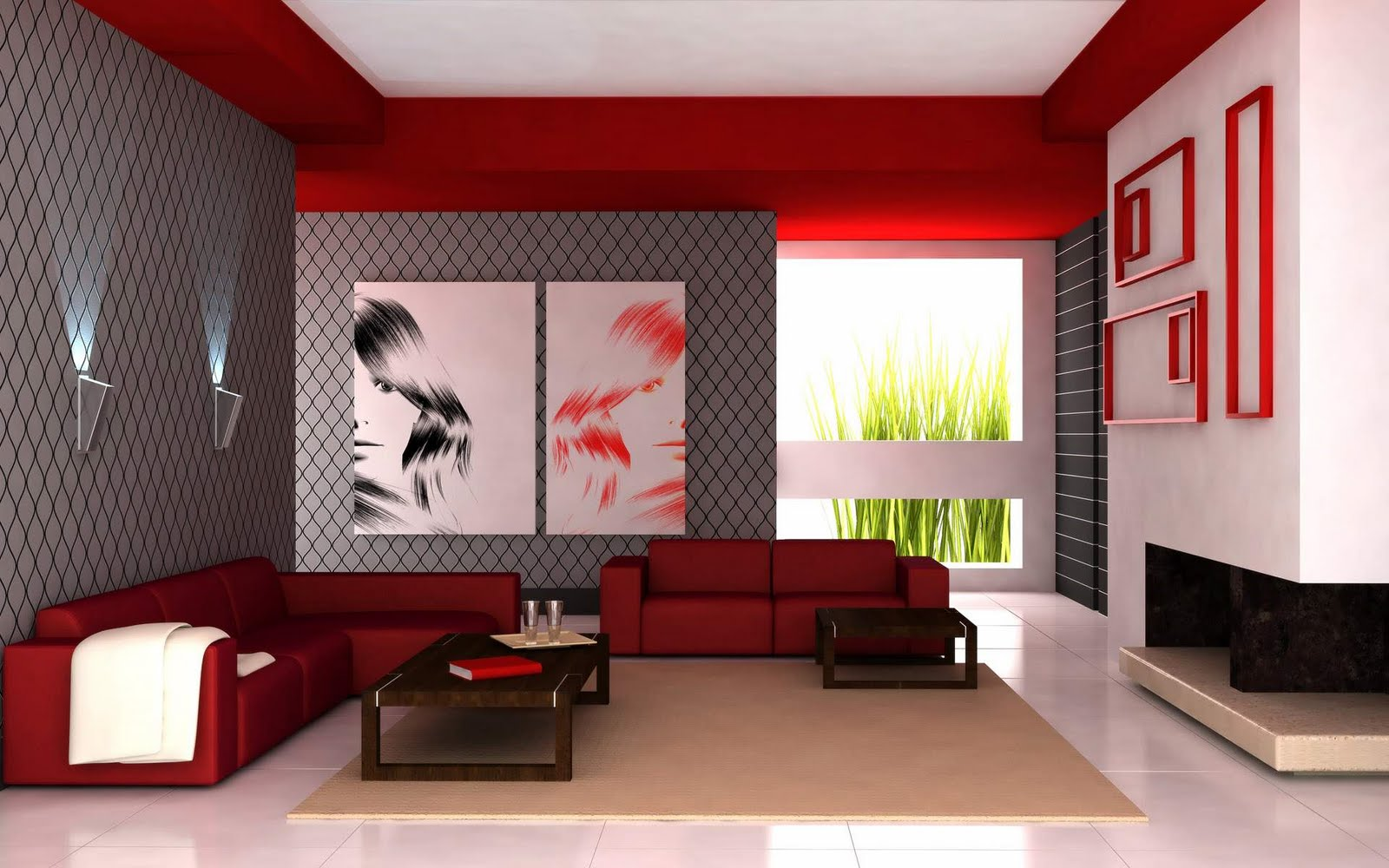 Eye catching living room color schemes modern architecture concept for Colour designs for living room