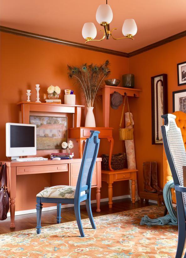 Orange Office Designing For Teenage Girls4