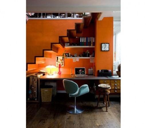 Orange Office Designing For Teenage Girls