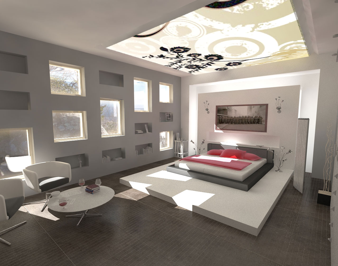 Contemporary bedroom styles modern architecture concept for New style bedroom design