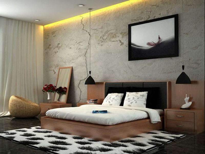 Relaxing interiors styles for bedroom modern architecture concept - Calming bedroom designs ...