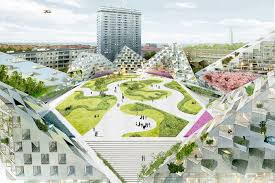 Bjarke Ingel's public square which is to be built for Battersea power station has been revealed