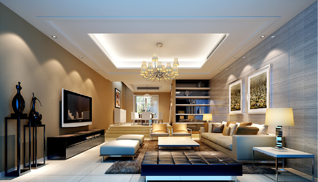 2015 Modern Living Room Decoration Modern Architecture Concept