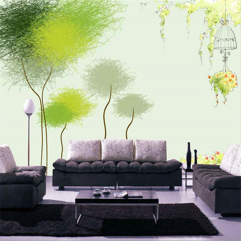 Fashion-TV-personality-tree-custom-wallpaper-background-wallpaper-the-living-room-sofa-bedroom-children-s-room