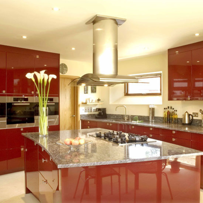 Kitchen decoration modern architecture concept for Red kitchen decor