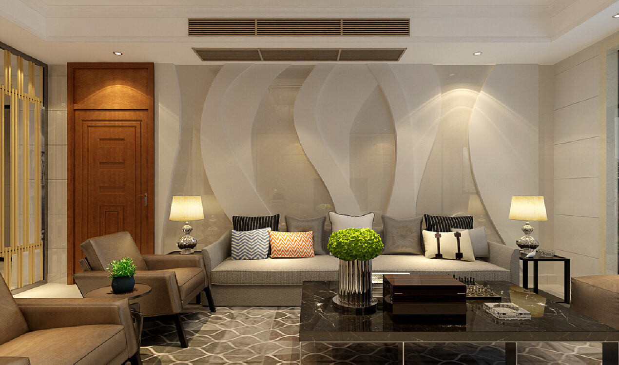 2015 modern living room decoration modern architecture for Interior design for drawing room wall