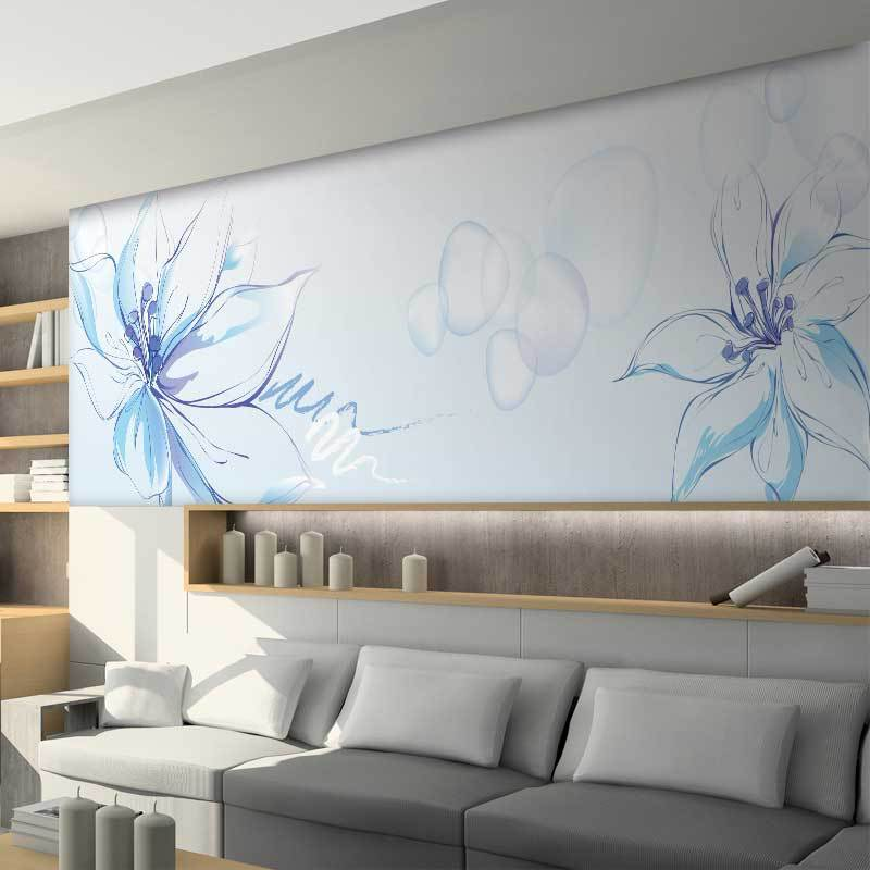 Fashion wallpaper in the bedroom