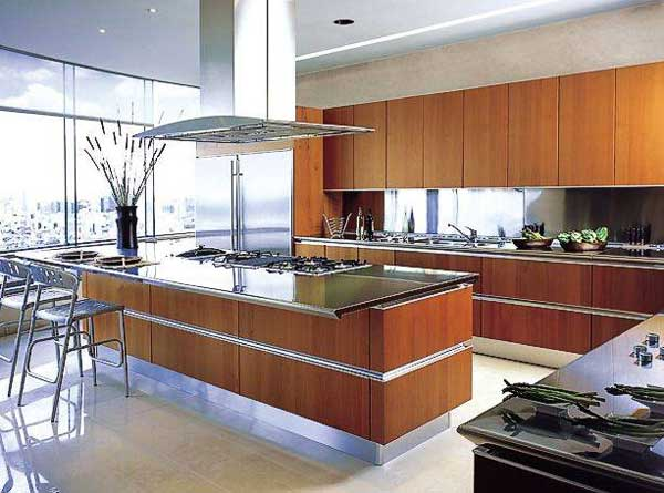 open plan kitchen design