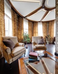 Interior design dark furniture