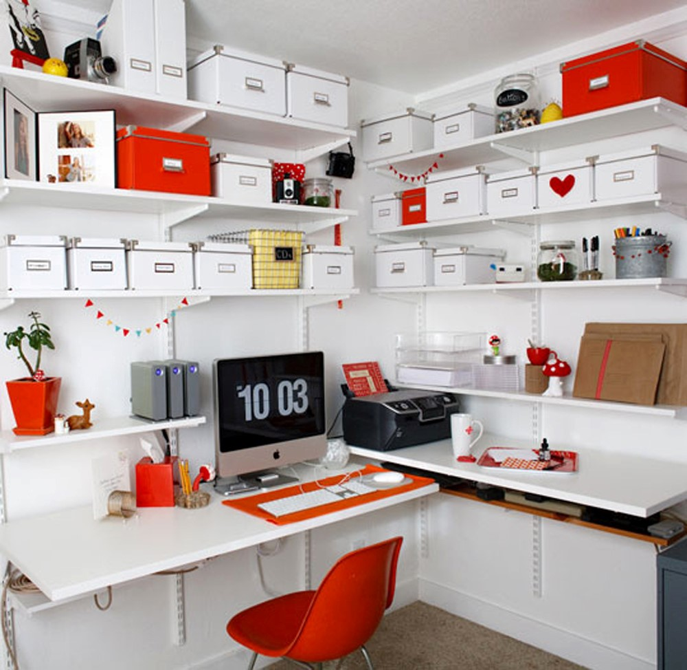 Orange Office Designing For Teenage Girls3