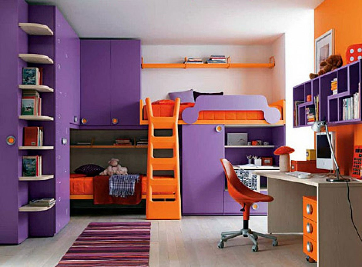Orange Office Designing For Teenage Girls5