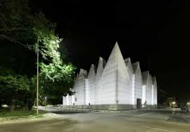 A Polish Crystalline concert hall with fascinating prismatic interior