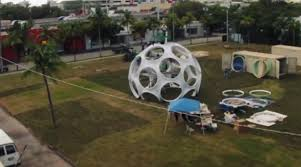 Miami's  new Fly eye dome is one of its kind