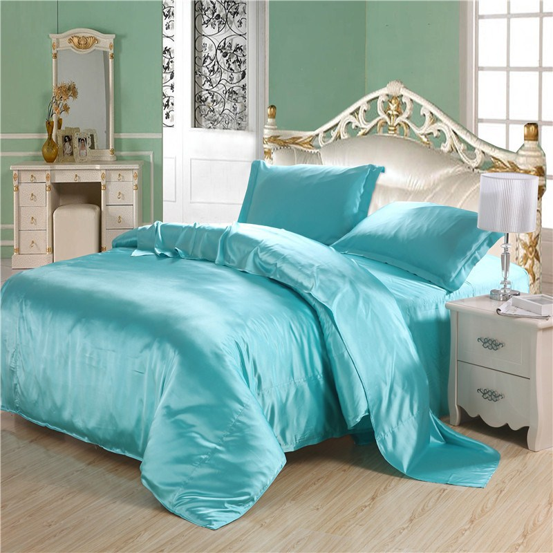 Luxury-font-b-Turquoise-b-font-font-b-Quilt-b-font-Silk-Comforter-Set-Duvet-Cover