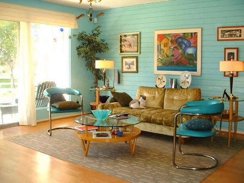 Retro Living Room Decor Home Decoration