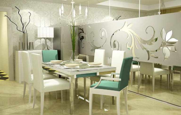 White Dining Room Table Decorating Ideas Modern Architecture Concept