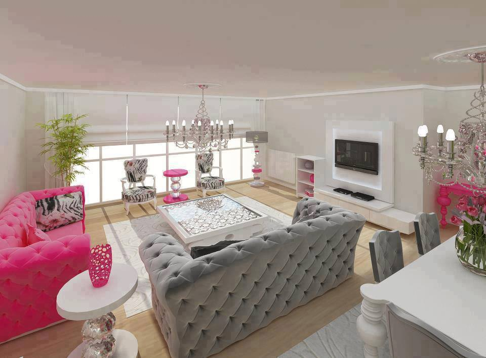 Pink Gray Decoration